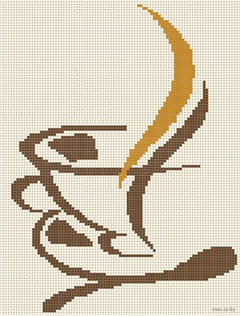 "Вышивка бисером ""Кружечка чая"" (250х190 мм) — фото, картинка"