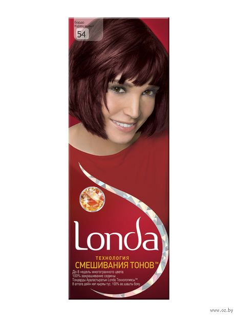 "Крем-краска для волос ""LondaColor"" (тон: 54, бордо)"