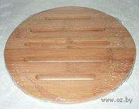Подставка под горячее бамбуковая (175х175х10 мм)