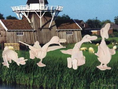 """Сборная деревянная модель """"Веселые утята"""" — фото, картинка"""