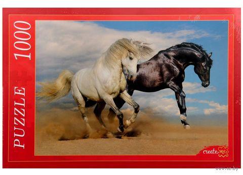 """Пазл """"Две лошади"""" (1000 элементов) — фото, картинка"""