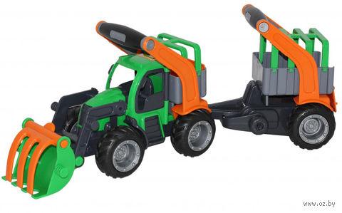 """Трактор-погрузчик с полуприцепом для животных """"ГрипТрак"""""""