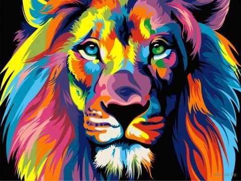 "Картина по номерам ""Ваю Ромдони. Радужный лев"" (400х500 мм) — фото, картинка"
