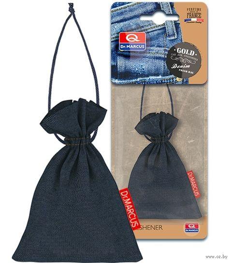"Ароматизатор подвесной сухой ""Dr.Marcus Denim Fresh Bag"" (Gold; арт. 24289) — фото, картинка"