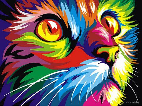 "Картина по номерам ""Взгляд кошки"" (300х400 мм) — фото, картинка"