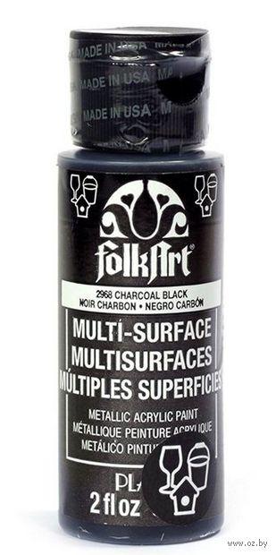 "Краска акриловая ""FolkArt Multi-Surface"" (черный, 59 мл; арт. PLD-02968)"