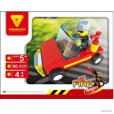 """Конструктор """"Пожарные спасатели. Спасательная машина"""" (41 деталь)"""