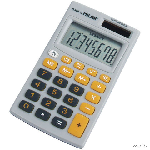 Калькулятор (8 разрядов, серый/оранжевый)