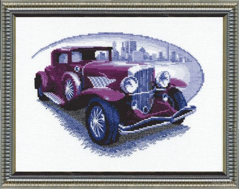 "Вышивка крестом ""Ретро автомобиль. Бьюик"" (290x210 мм) — фото, картинка"