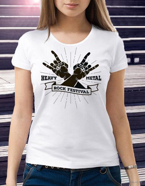 "Футболка женская ""Heavy Metal"" 44 (art. 3)"