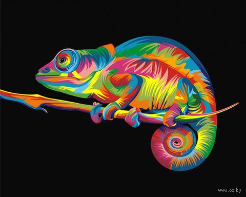 "Картина по номерам ""Ваю Ромдони. Радужный хамелеон"" (400х500 мм) — фото, картинка"