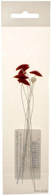 """Набор для керамической флористики """"Тычинки лилии"""" (коричневый; 6 шт.) — фото, картинка"""