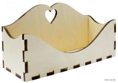 """Заготовка деревянная """"Бюро для писем"""" (220х100х140 мм; арт. AM777505) — фото, картинка"""