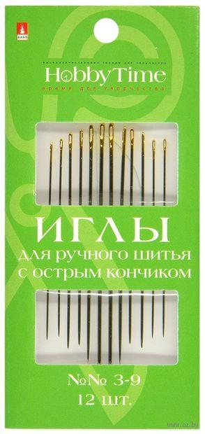 Иглы для шитья №3-9 (12 шт.) — фото, картинка