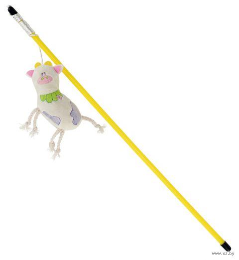 """Дразнилка для кошек на стеке со звуком """"Волшебная корова"""" (47 см) — фото, картинка"""