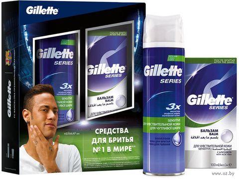 """Подарочный набор """"Gillette TGS"""" (пена для бритья, бальзам для бритья) — фото, картинка"""