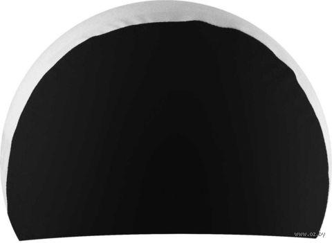 Шапочка для плавания (чёрно-белая; арт. NPC-21) — фото, картинка