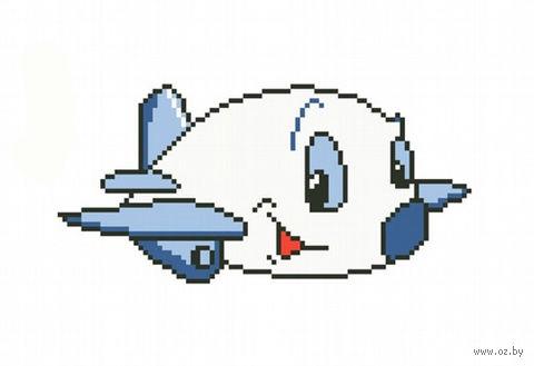 """Вышивка крестом """"Самолетик"""""""