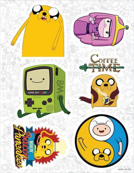 "Набор виниловых наклеек №77 ""Adventure Time"" — фото, картинка"