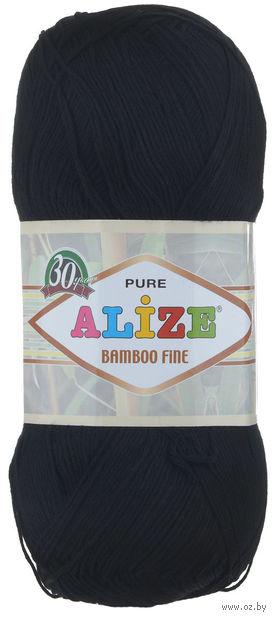 "Пряжа ""ALIZE. Bamboo Fine №60"" (100 г; 440 м; черный) — фото, картинка"