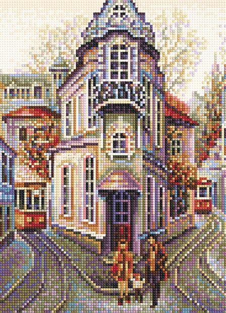 "Алмазная вышивка-мозаика ""Городок"" (360х260 мм) — фото, картинка"