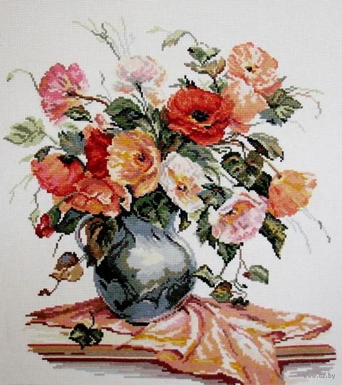 """Вышивка крестом """"Поэзия цветов. Нежные маки"""" (350х390 мм) — фото, картинка"""