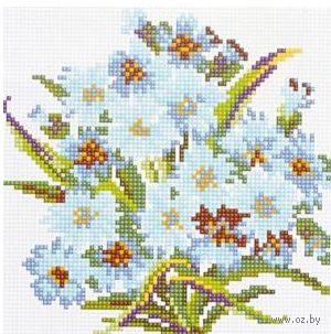 """Алмазная вышивка-мозаика """"Букет ромашек"""" (200x200 мм) — фото, картинка"""