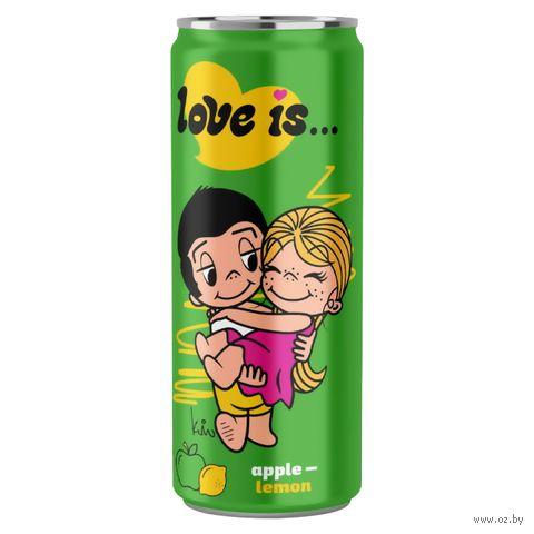 """Напиток газированный """"Love is. Яблоко-лимон"""" (330 мл) — фото, картинка"""