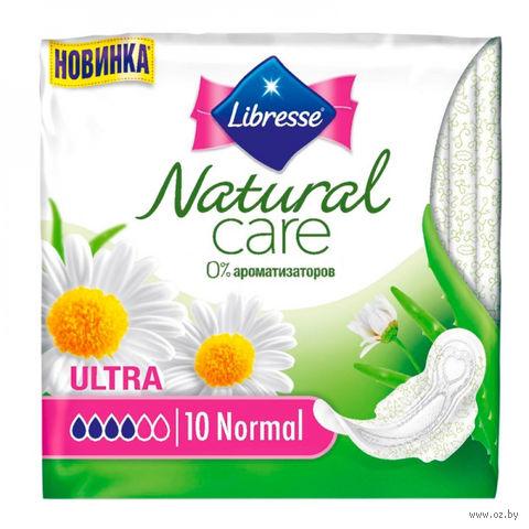 """Гигиенические прокладки Libresse Natural Care """"Ultra Normal"""" (10 шт)"""