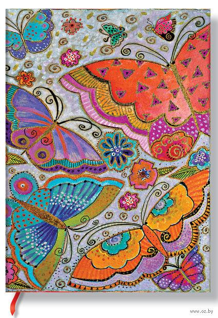 "Записная книжка Paperblanks ""Бабочки"" в линейку (формат: 70*90 мм, микро)"