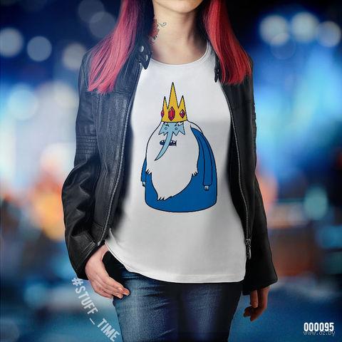 """Футболка женская """"Время приключений. Ледяной король"""" (XL; арт. 095) — фото, картинка"""