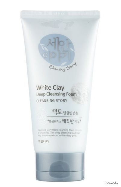 "Пенка для умывания ""Deep Cleansing Foam. White Clay"" (150 мл) — фото, картинка"