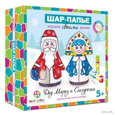 """Набор для изготовления фигурок """"Дед Мороз и Снегурочка"""" — фото, картинка"""