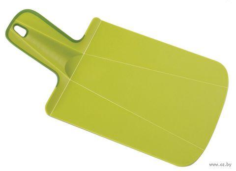 "Доска-трансформер разделочная ""Chop2Pot Mini"" (318х170х20 мм; зеленая) — фото, картинка"