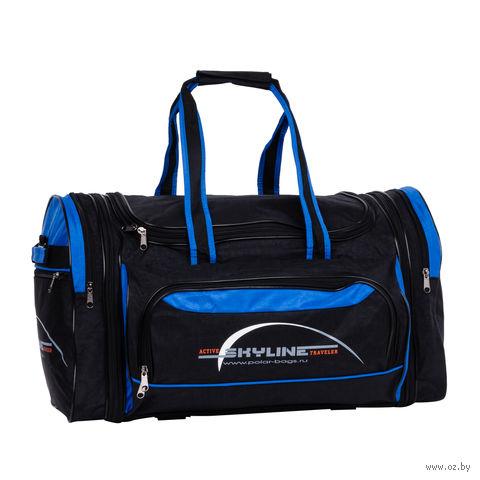 Сумка спортивная 6069.1с (66,5 л; чёрно-синяя) — фото, картинка