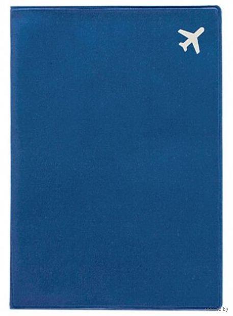 """Обложка на паспорт """"Самолет"""" (синяя) — фото, картинка"""