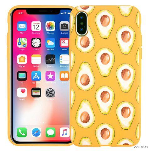 "Чехол для iPhone X/XS ""Avocado yellow"" — фото, картинка"