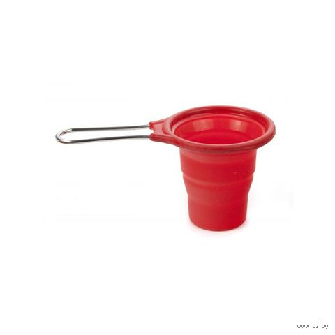 Стакан мерный силиконовый (80/60 мл; красный)