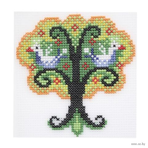"""Вышивка крестом """"Чудо-дерево"""" (120х125 мм) — фото, картинка"""
