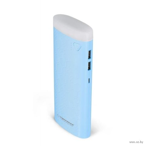 Внешний аккумулятор ESPERANZA FERMION 10000 mAh EMP114B (голубой) — фото, картинка