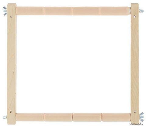 """Пяльцы-рамка с пластиковыми зажимами """"Лайт"""" (30х30 см) — фото, картинка"""