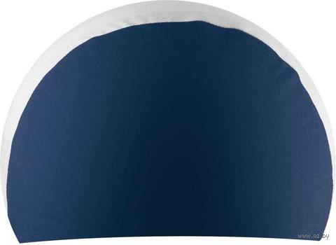 Шапочка для плавания (сине-белая; арт. NPC-31) — фото, картинка