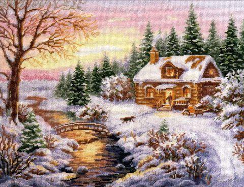 """Вышивка крестом """"Зима. К вечеру"""""""