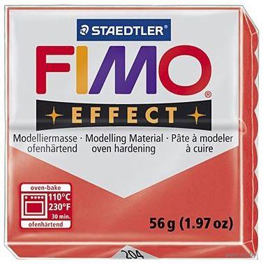 """Глина полимерная """"FIMO Effect"""" (полупрозрачный красный; 56 г) — фото, картинка"""