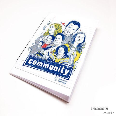 "Блокнот белый ""Community"" А7 (129)"