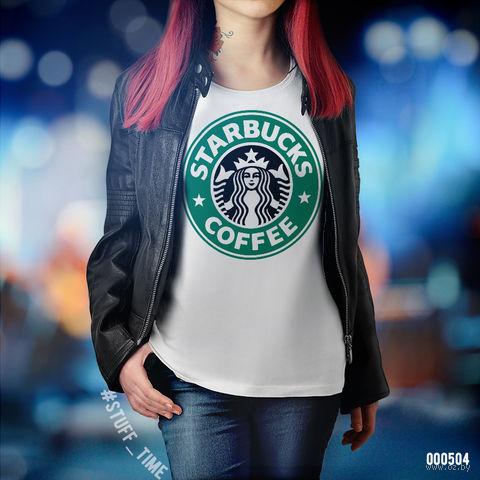 """Футболка женская """"Старбакс кофе"""" S (504)"""