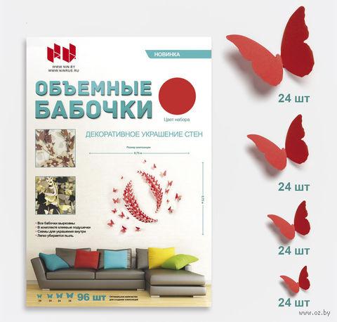 "Набор наклеек на стену ""Бабочка"" (96 шт.; красный) — фото, картинка"