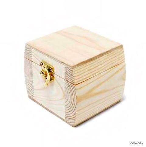 "Заготовка деревянная ""Шкатулка-бочонок"" (100х100х100 мм) — фото, картинка"