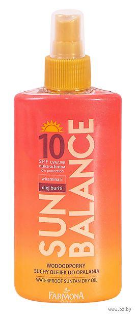 """Масло солнцезащитное для тела """"Sun Balance"""" водостойкое SPF 10 (150 мл) — фото, картинка"""