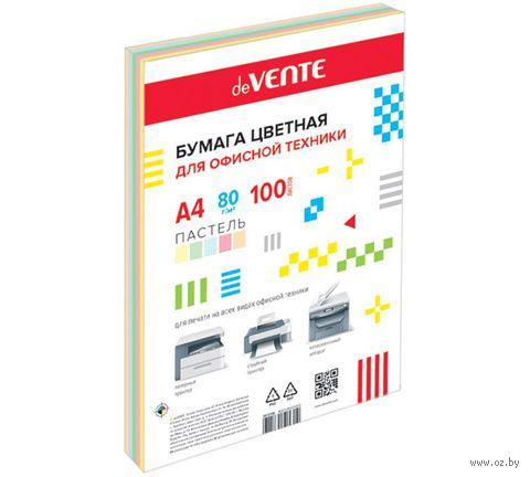 """Бумага """"DeVENTE"""" (А4; 100 листов; 80 г/м2; цветная) — фото, картинка"""